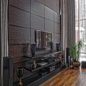 Стеновые панели из мдф шпон венге