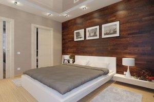 Отделка стен в спальню